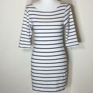 Love Culture Black & White Striped Minidress